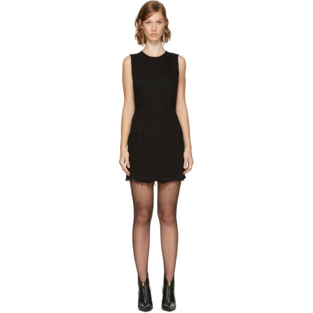 アレキサンダー ワン レディース ワンピース・ドレス ワンピース【Black Denim Zip Dress】