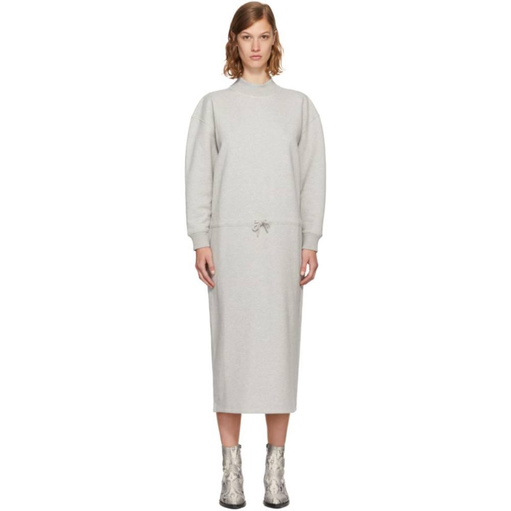 オープニングセレモニー レディース ワンピース・ドレス ワンピース【Grey Mock Neck Sweatshirt Dress】