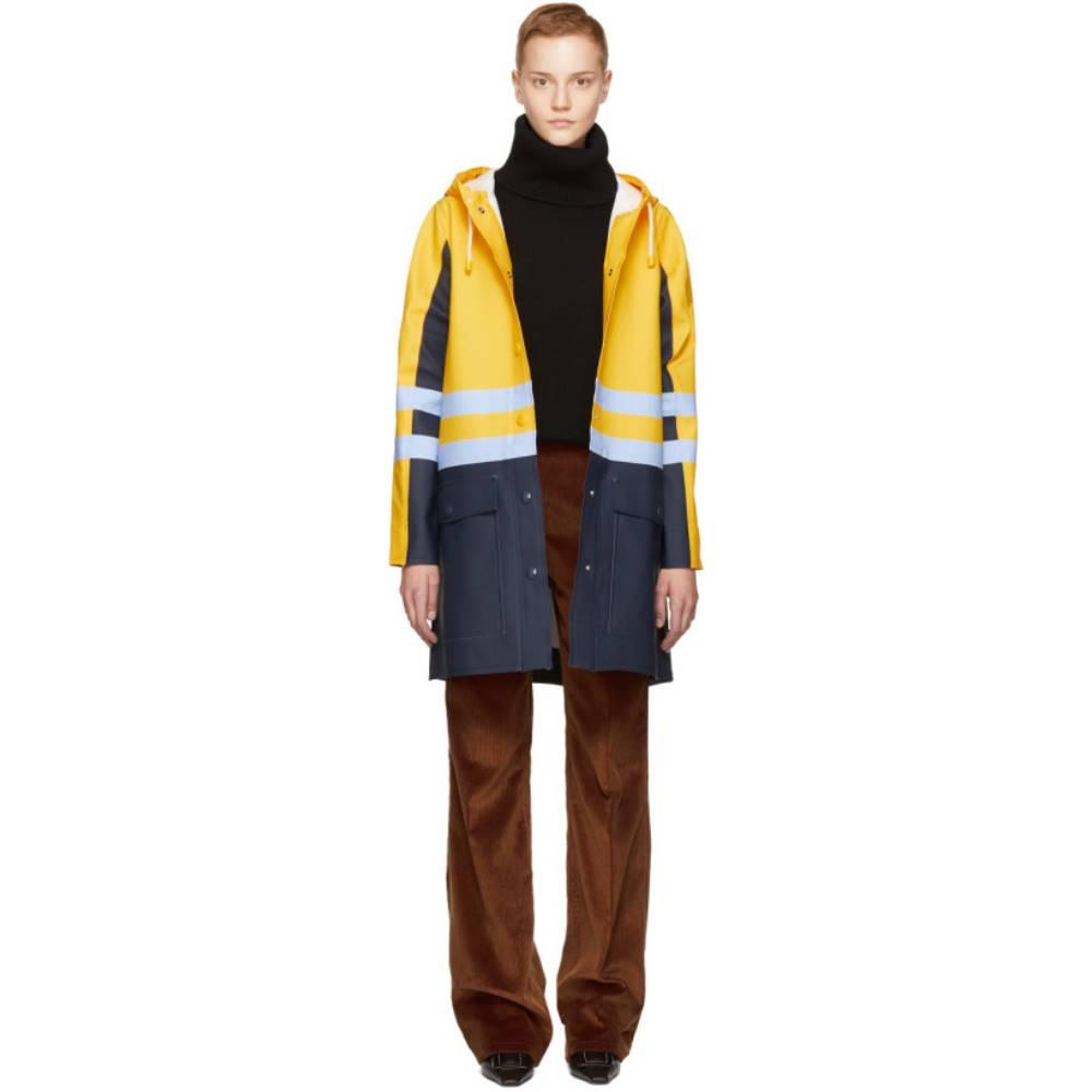 マルニ レディース アウター【Yellow & Navy Stutterheim Edition Colorblock Raincoat】