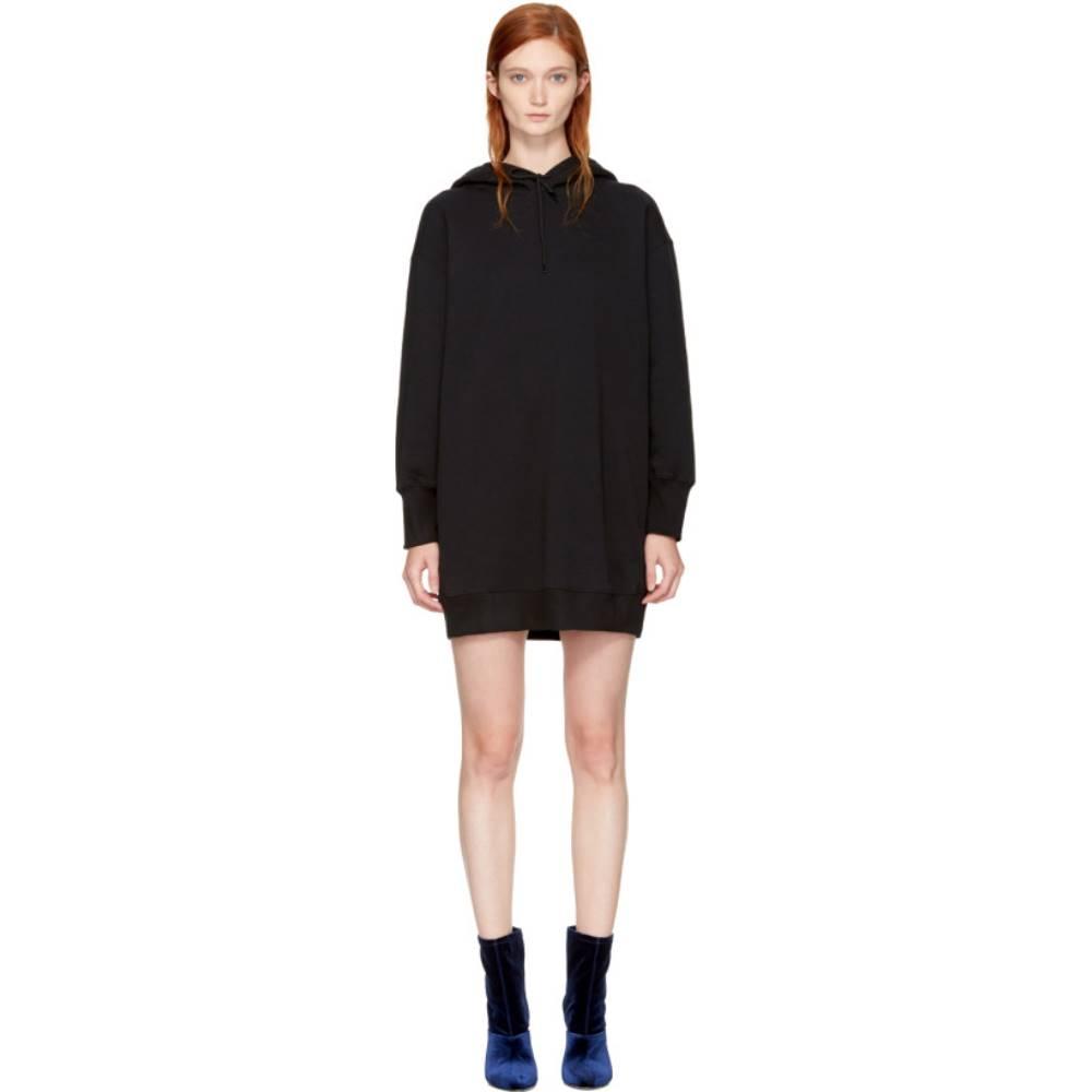 エムエスジーエム レディース ワンピース・ドレス ワンピース【Black Oversized Hoodie Dress】