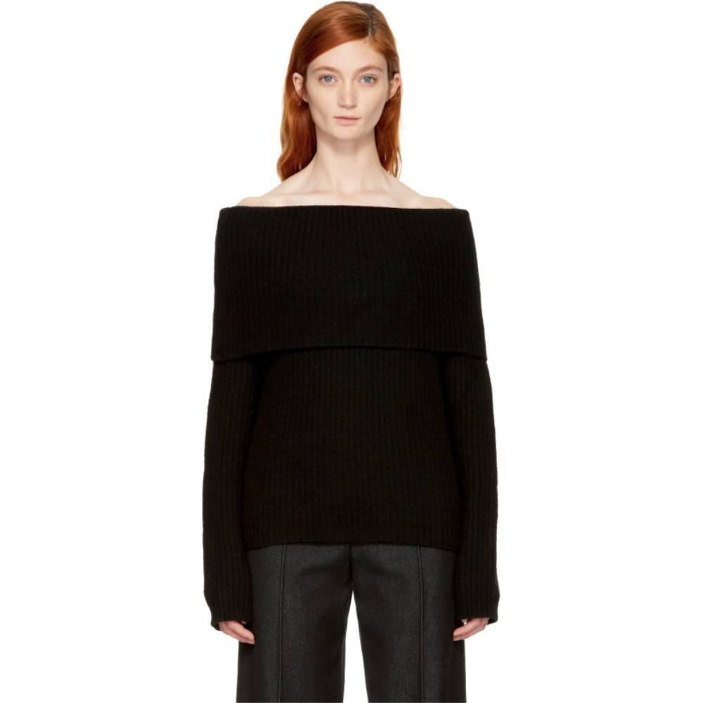 エムエスジーエム レディース トップス ニット・セーター【Black Off-the-Shoulder Sweater】