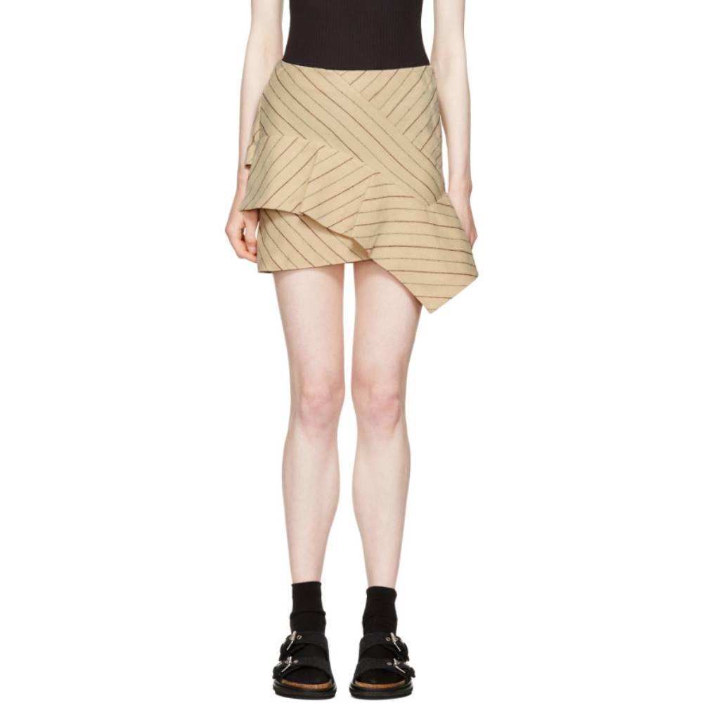 イザベル マラン レディース スカート ミニスカート【Ecru Pinstripe Kimura Miniskirt】