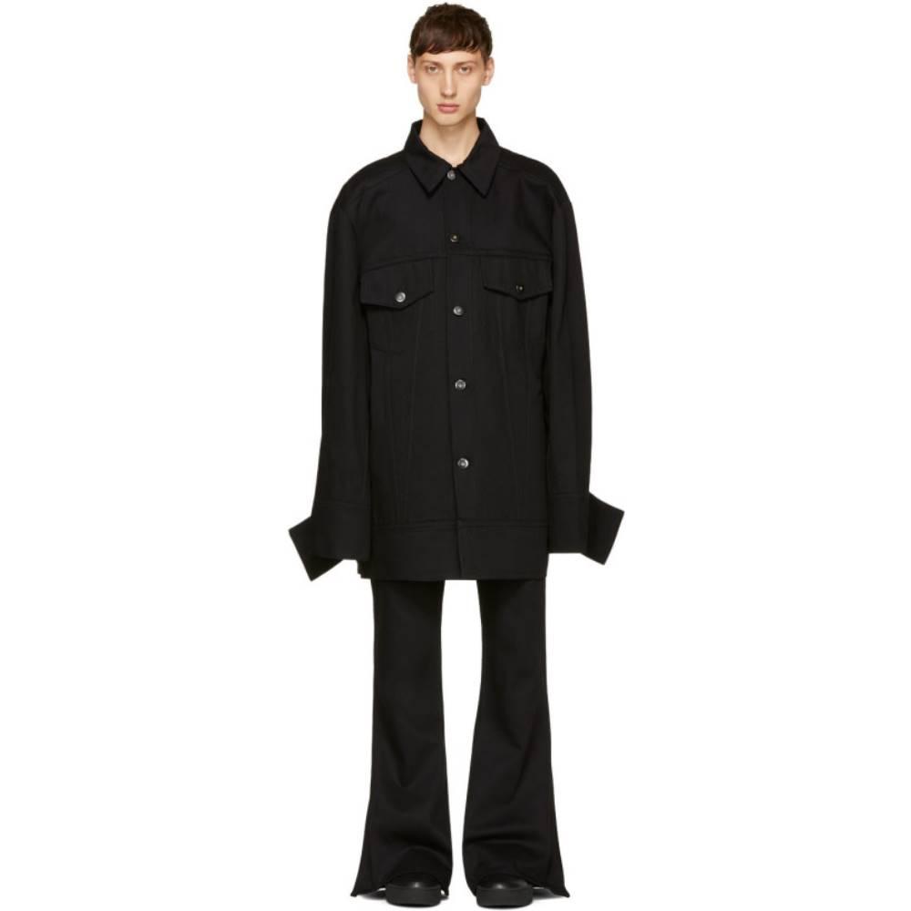 マシュー アダムズ ドーラン メンズ アウター ジャケット【Black Denim Falling Cuff Jacket】