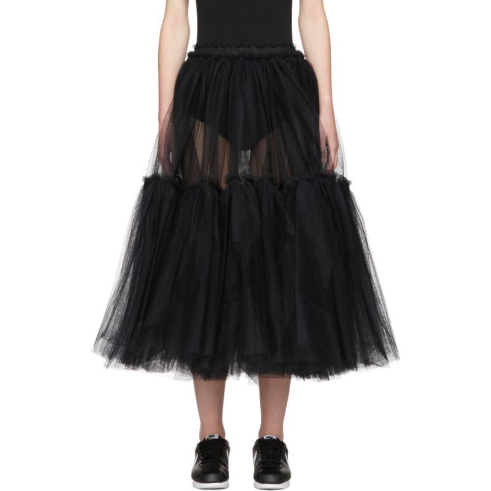 モリー ゴダード レディース スカート ひざ丈スカート【Black Gloria Skirt】