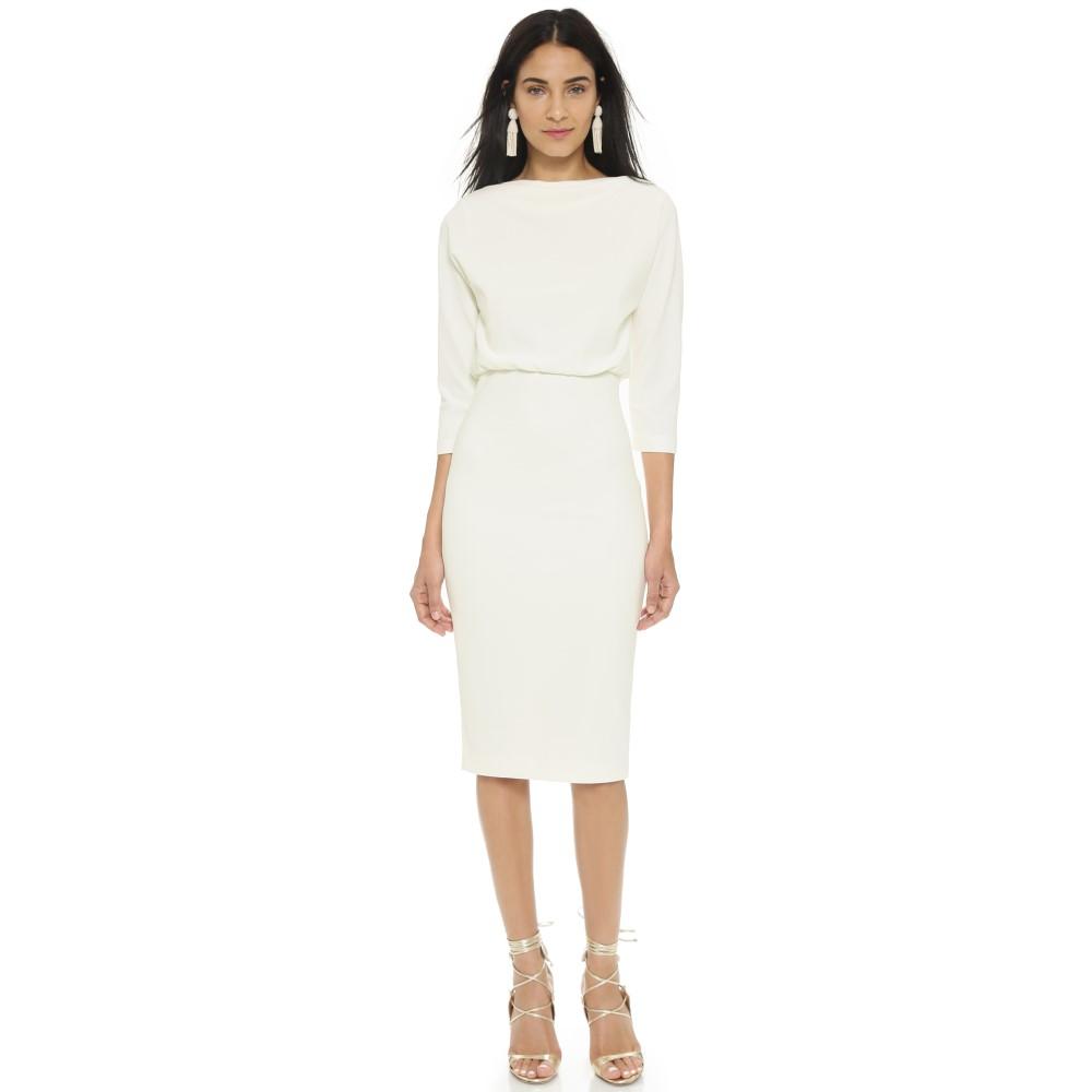 バッジェリーミシュカ Badgley Mischka Collection レディース トップス ワンピース【Long Sleeve Dress】Ivory