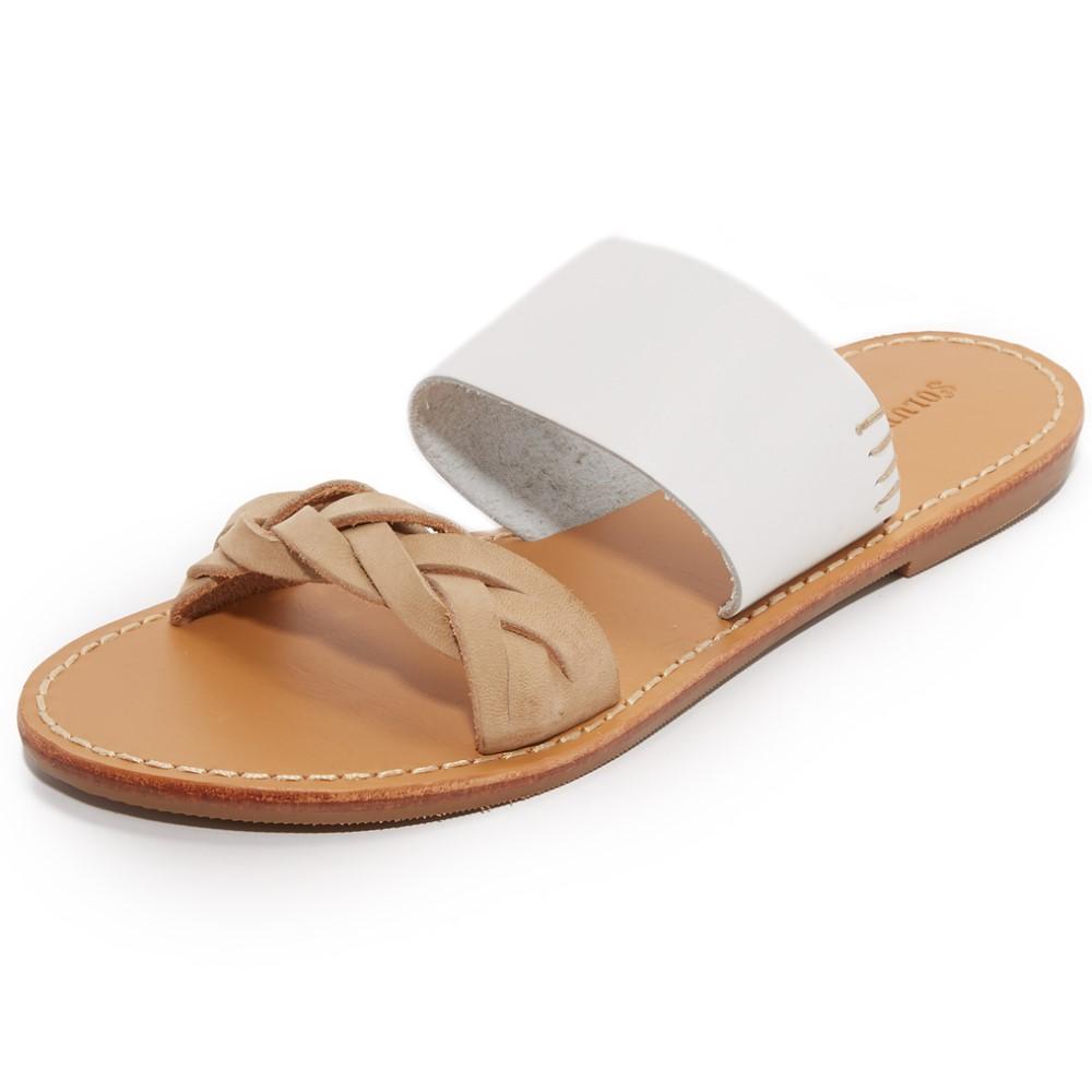 ソルドス Soludos レディース シューズ・靴 サンダル【Braided Slide Sandals】White