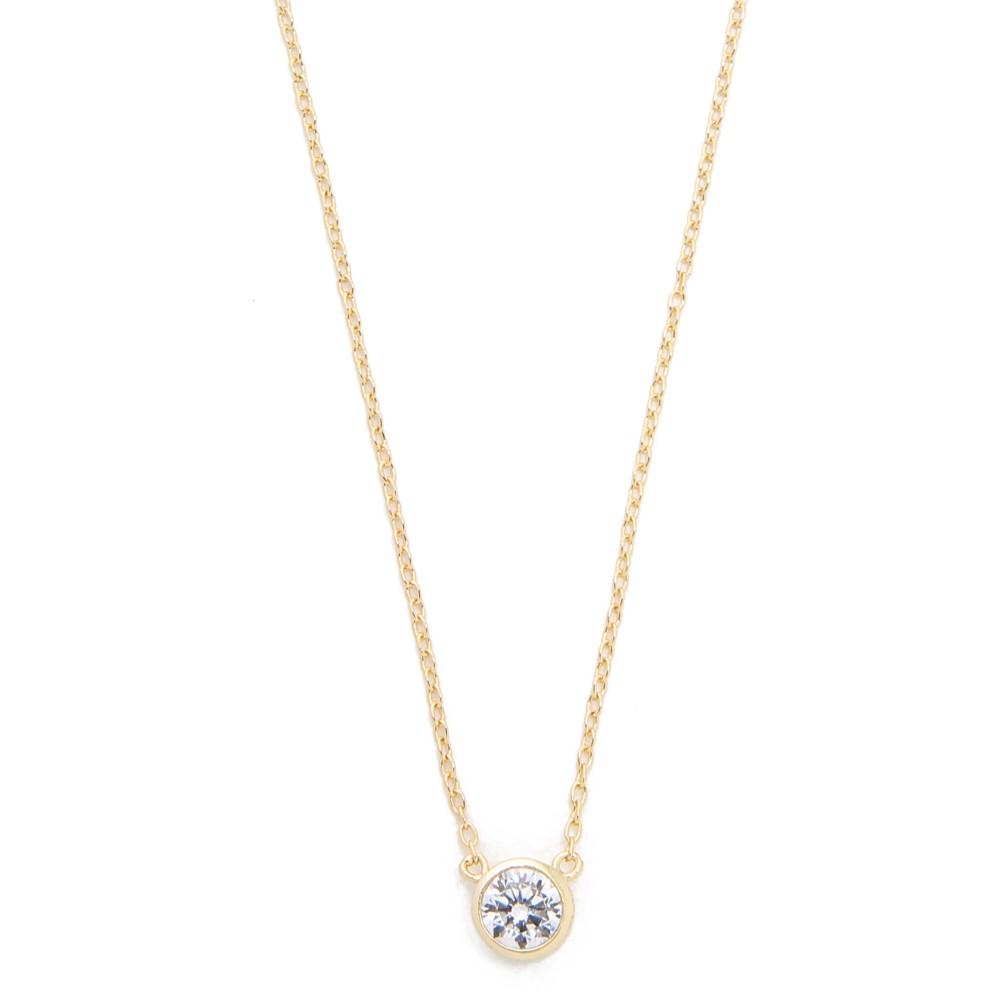 シャシ Shashi レディース アクセサリー ネックレス【Solitaire Necklace】Gold/Clear