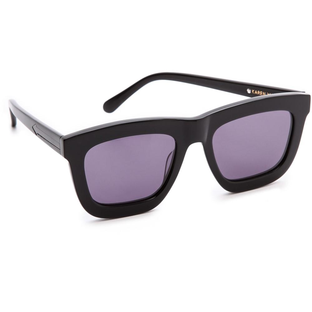 カレンウォーカー Karen Walker レディース アクセサリー メガネ・サングラス【Deep Worship Sunglasses】Black/Grey Smoke Mono