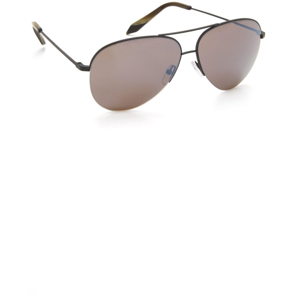 ヴィクトリアベッカム Victoria Beckham レディース アクセサリー メガネ・サングラス【Classic Victoria Aviator Sunglasses】Black/Galaxy