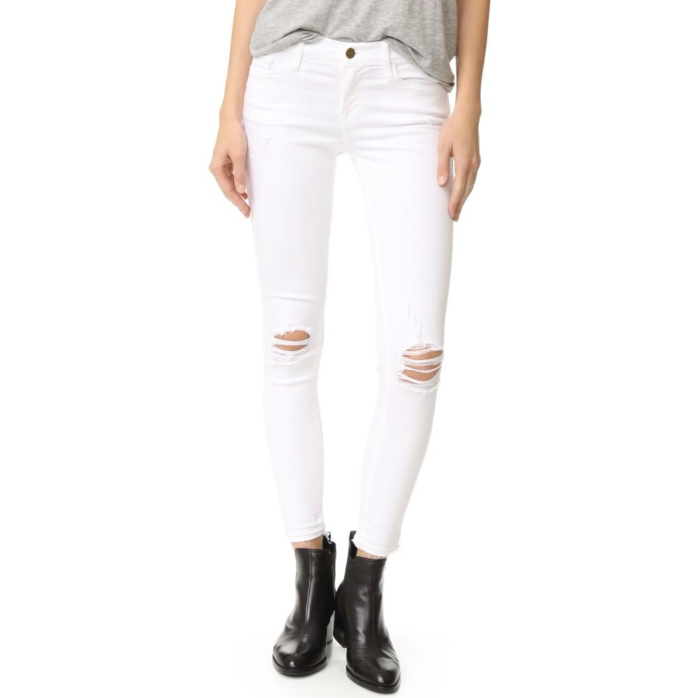 最新の フレーム FRAME レディース ボトムス ジーンズ【Le Skinny De Jeanne Cropped Jeans】Lilac Blanc