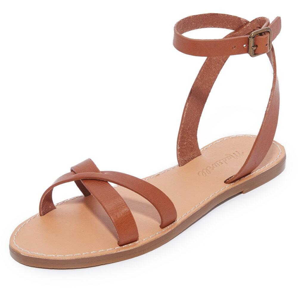メイドウェル Madewell レディース シューズ・靴 サンダル【Boardwalk Ankle Wrap Sandals】English Saddle
