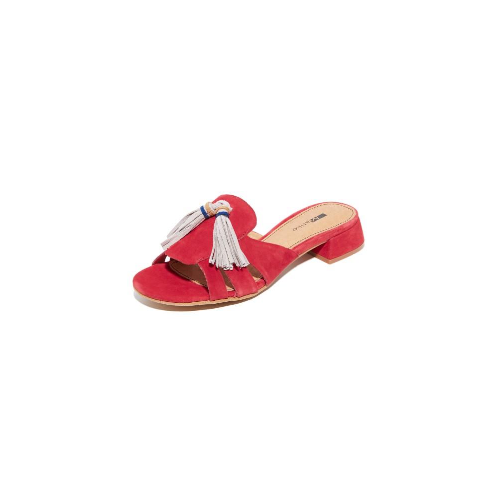 マチコ Matiko レディース シューズ・靴 サンダル【Susan Tassel Slides】Red Cherry