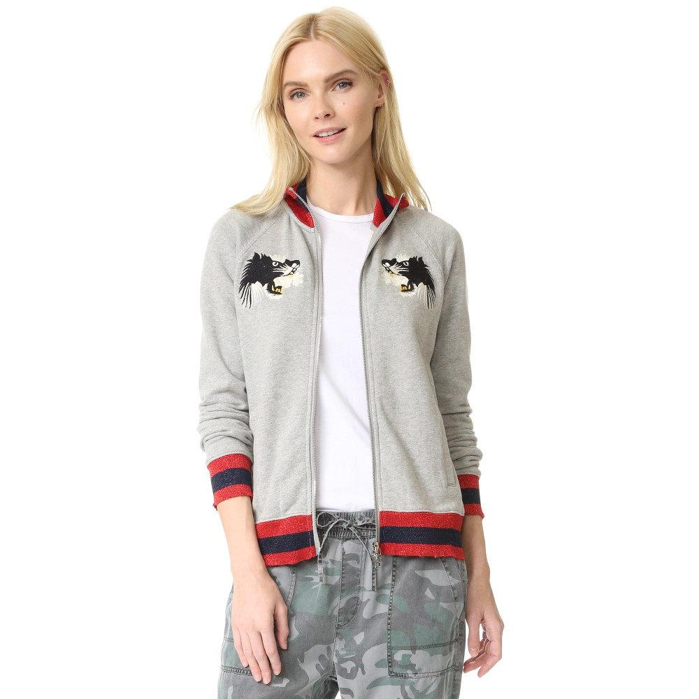 パム&ジェラ Pam & Gela レディース アウター ジャケット【Embroidered Bomber Jacket】Heather Grey