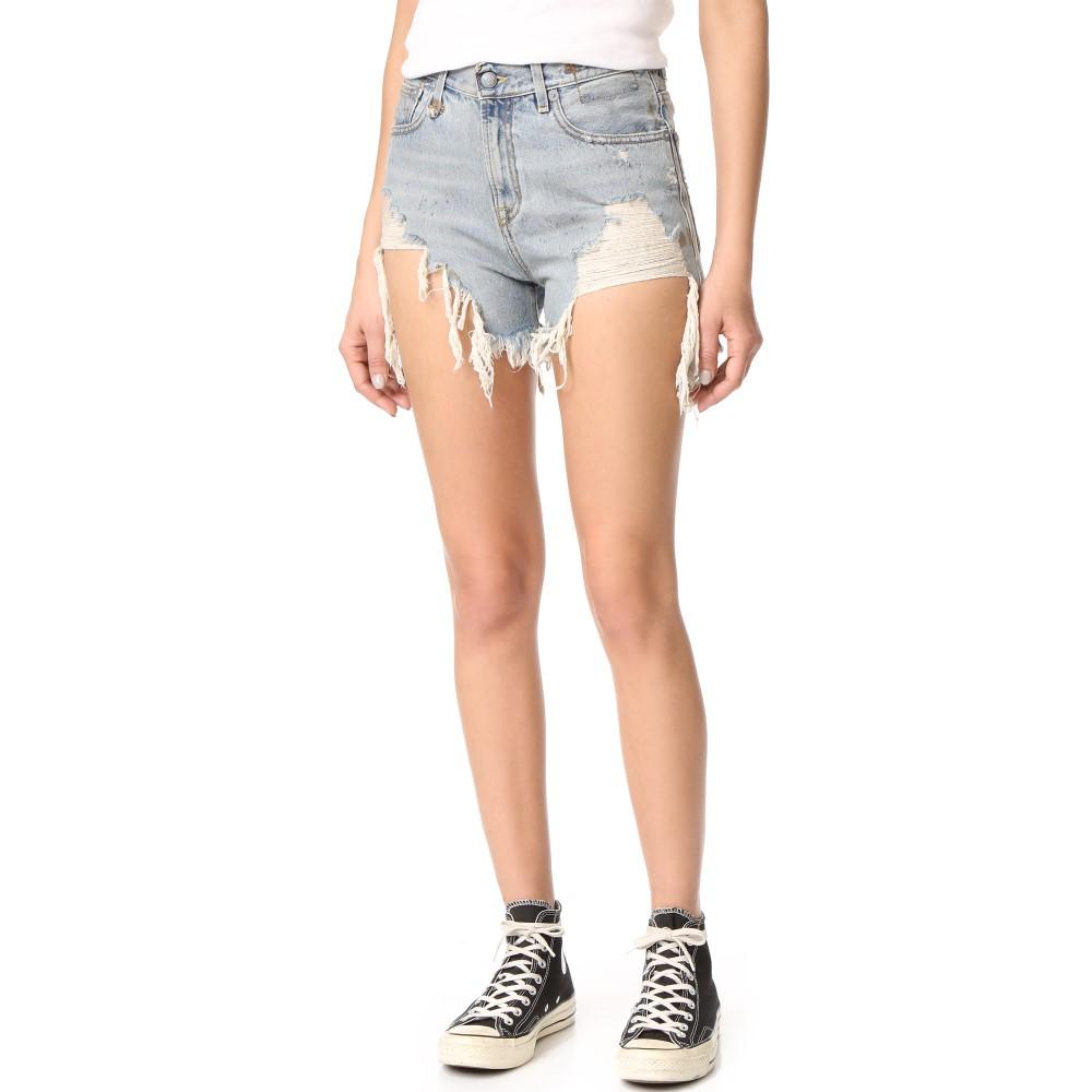 アール サーティーン R13 レディース ボトムス ショートパンツ【Shredded Slouch Shorts】Rutland Painted
