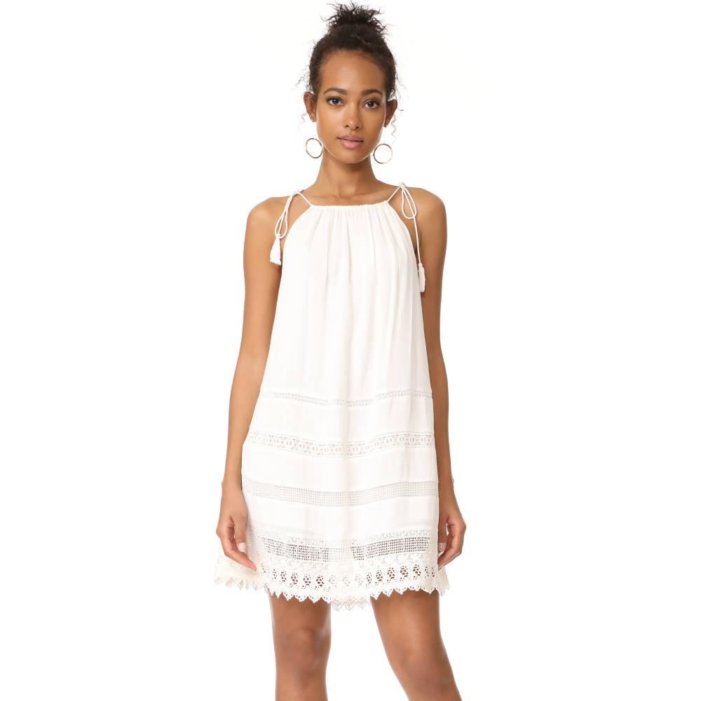 アリス アンド オリビア alice + olivia レディース トップス ワンピース【Danna Tie Stripe Dress】White