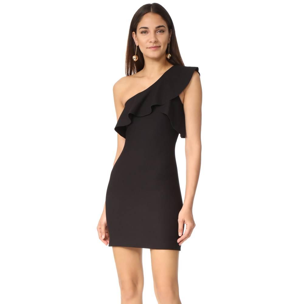 エリザベス アンド ジェームス Elizabeth and James レディース トップス ワンピース【Jerard One Shoulder Ruffle Dress】Black