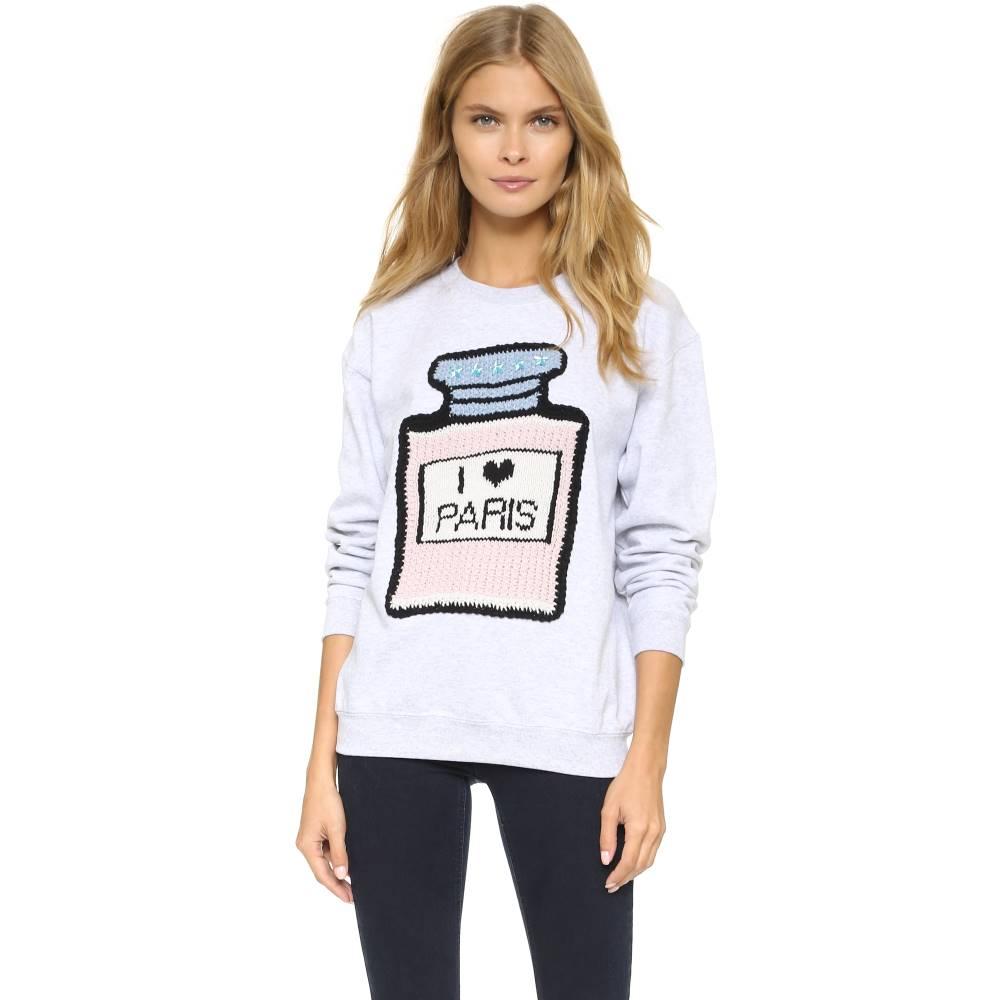ミカエラ バーガー Michaela Buerger レディース トップス トレーナー【I Love Paris Sweatshirt】Light Grey