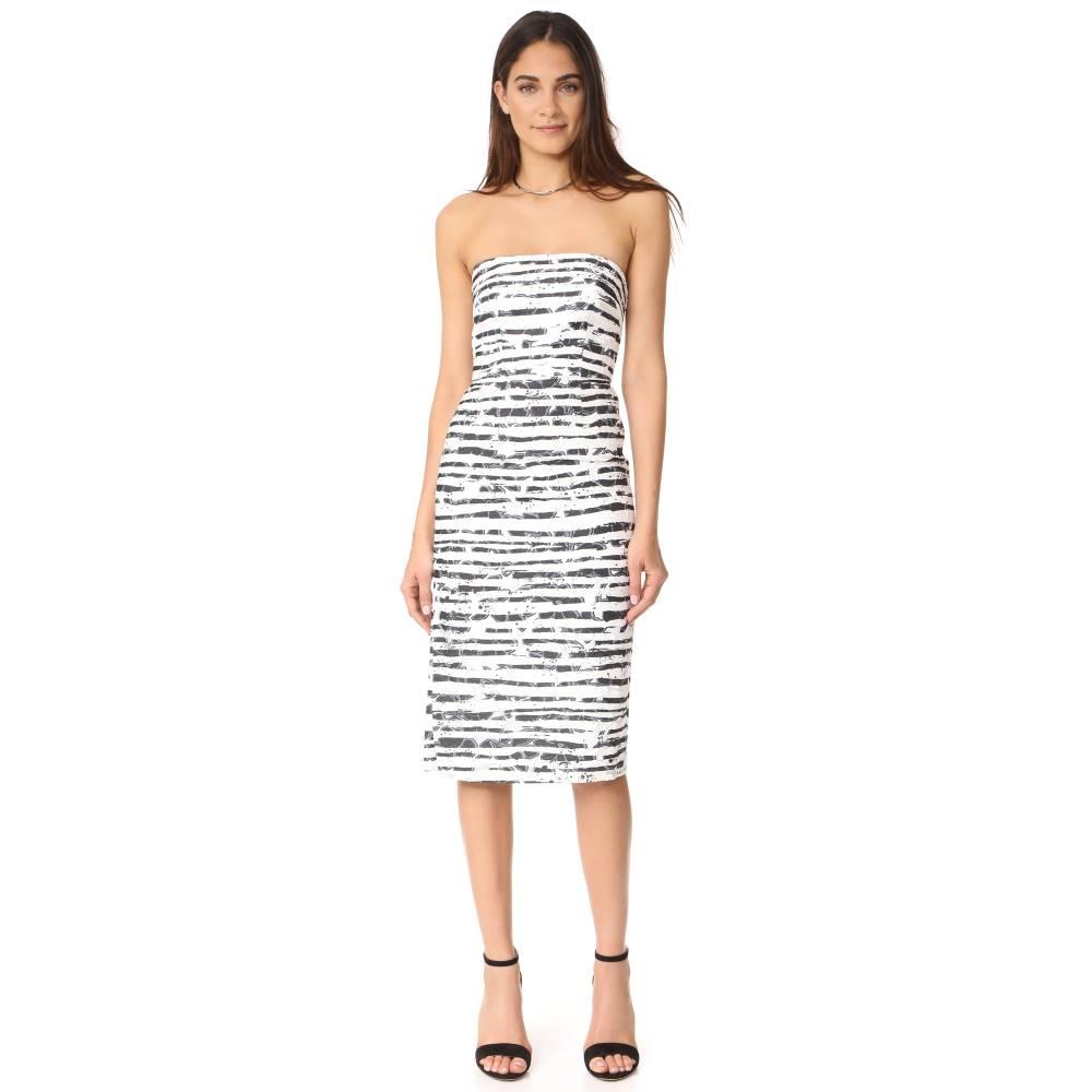 ミリー Milly レディース トップス ワンピース【Floral Striped Burnout Adeline Dress】Black