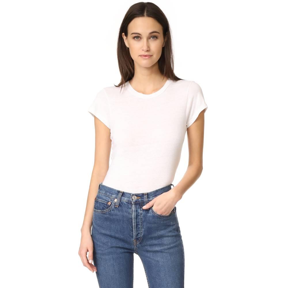 リダン RE/DONE レディース トップス Tシャツ【x Hanes 1960s Slim Tee】Vintage White