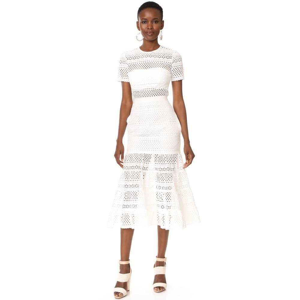 セルフ ポートレイト Self Portrait レディース トップス ワンピース【Bea Midi Dress】White