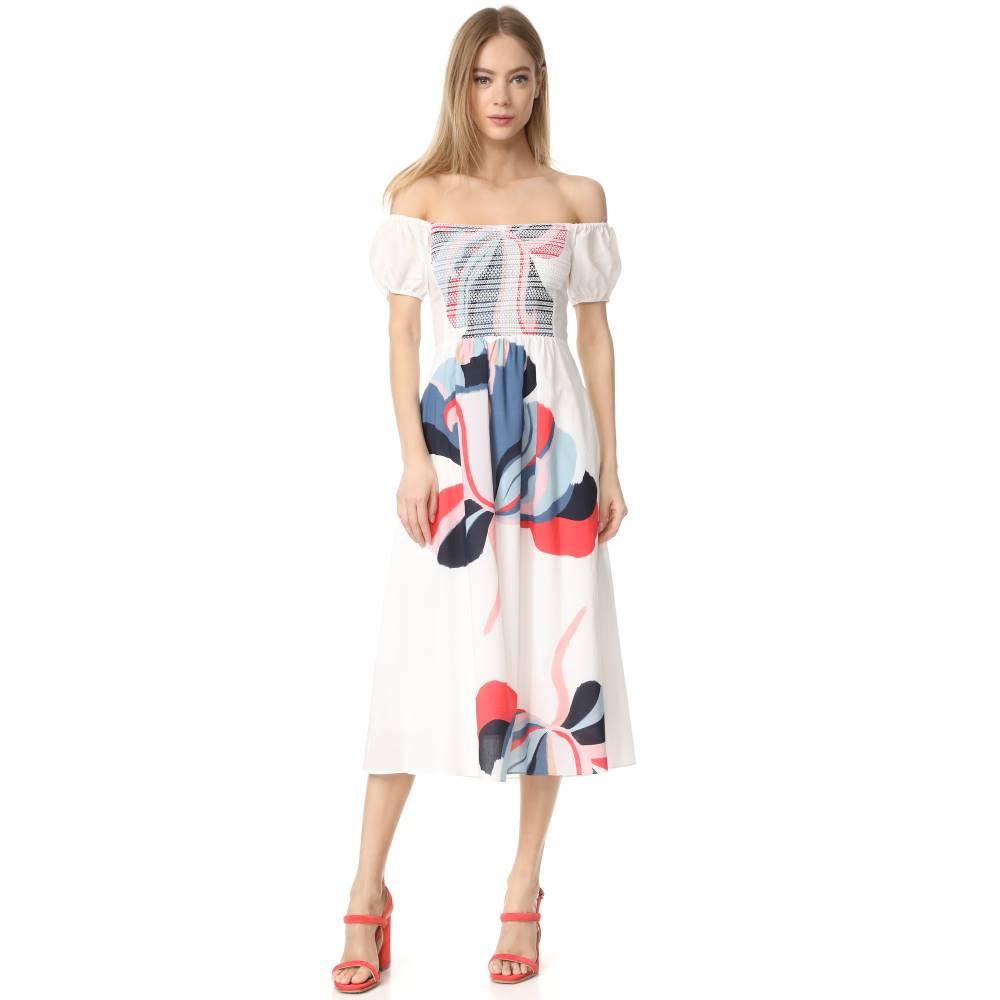 タニヤ テイラー Tanya Taylor レディース トップス ワンピース【Ribbon Floral Zanna Dress】White Multi