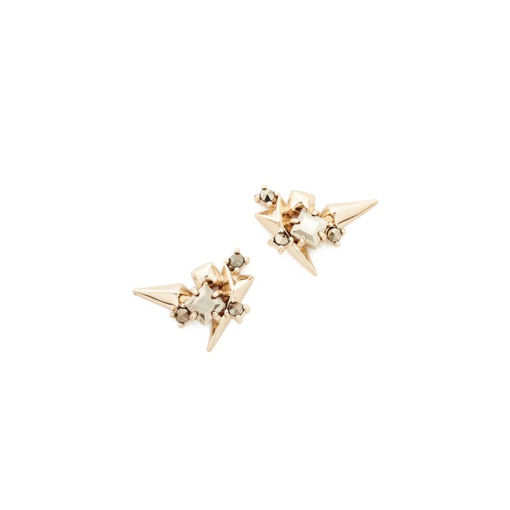 アレクシス ビッター Alexis Bittar レディース アクセサリー イヤリング・ピアス【Studded Earrings】Gold Multi