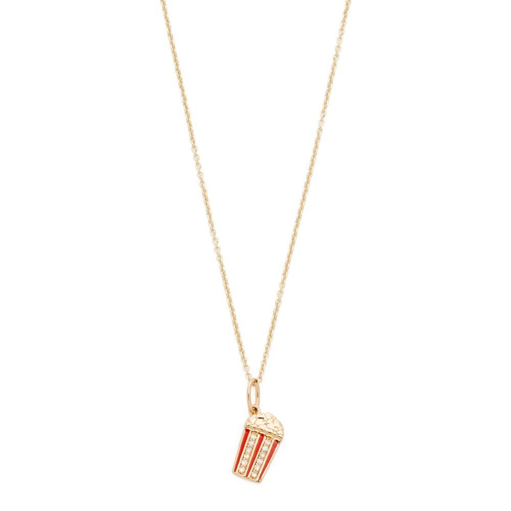 【新作】 シドニーエヴァン Sydney Evan レディース アクセサリー ネックレス【Popcorn Charm Necklace】Gold