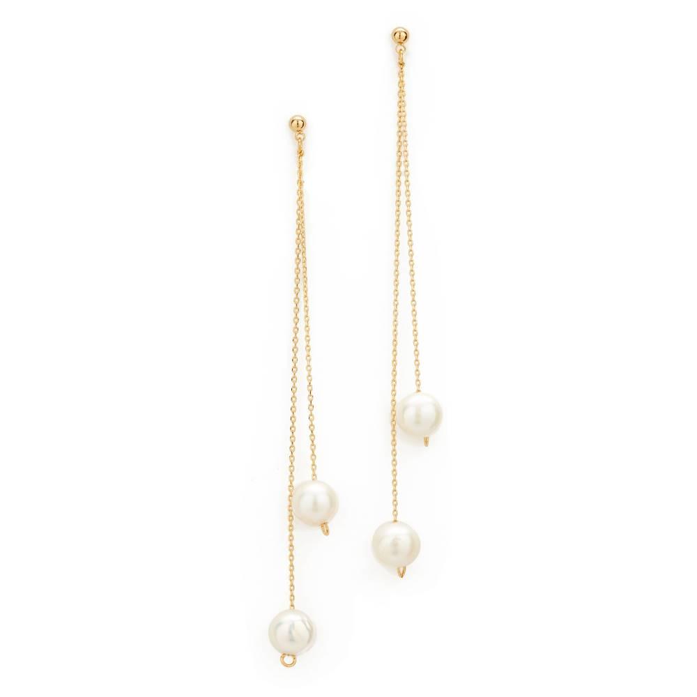 クローバーポスト Cloverpost レディース アクセサリー イヤリング・ピアス【Freshwater Cultured Pearl Whirl Earrings】Gold