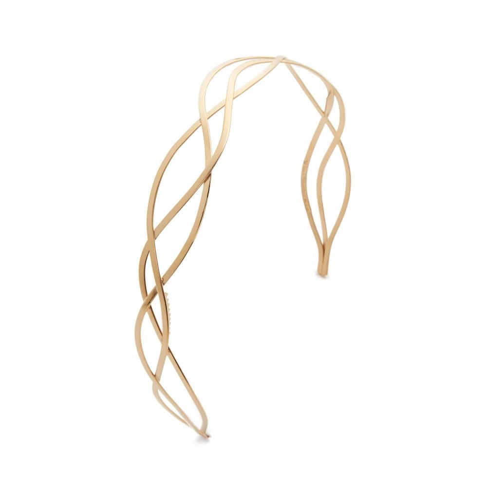 最安挑戦 ミセスプレジデントアンドコー Mrs. President & Co. レディース アクセサリー ヘアーアクセサリー【The Urbanista Headband】2 Tone Gold