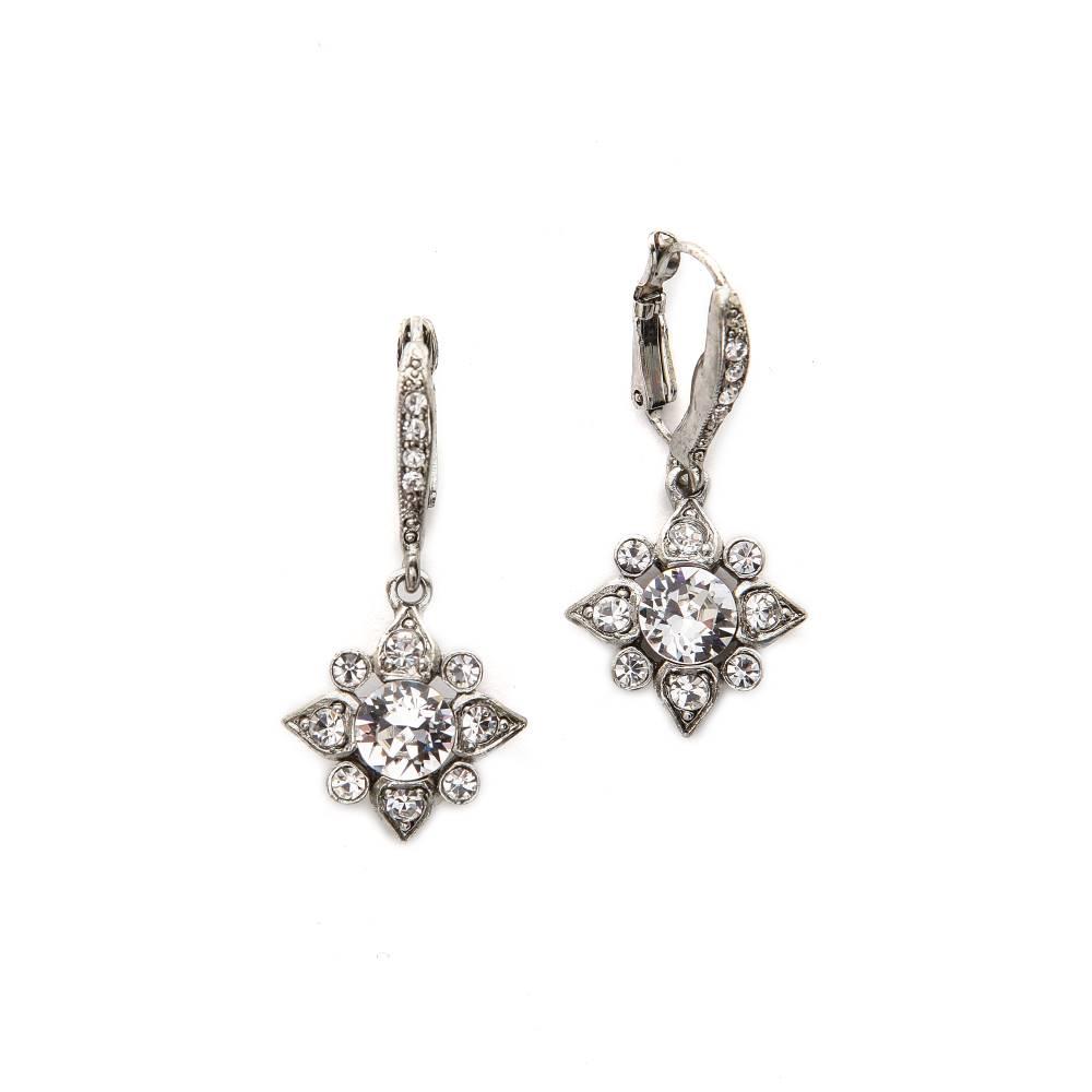 オスカー デ ラ レンタ Oscar de la Renta レディース アクセサリー イヤリング・ピアス【Delicate Star Earrings】Crystal/Silver