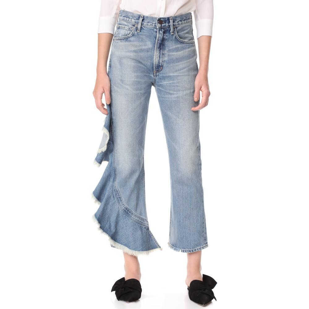 シチズン オブ ヒューマニティ Citizens of Humanity レディース ボトムス ジーンズ【Estella Side Ruffle Jeans】Caliente