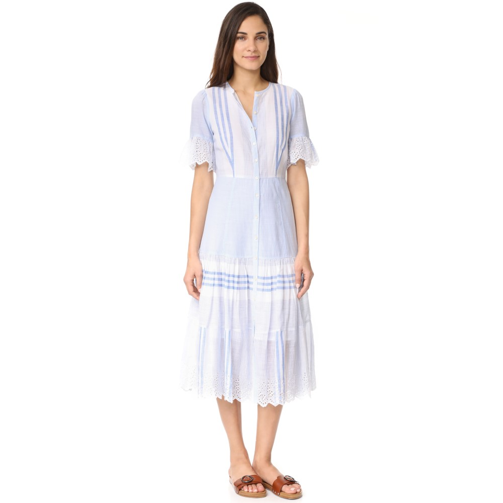 レベッカ テイラー La Vie Rebecca Taylor レディース トップス ワンピース【Short Sleeve Stripe Dress】Blue Combo