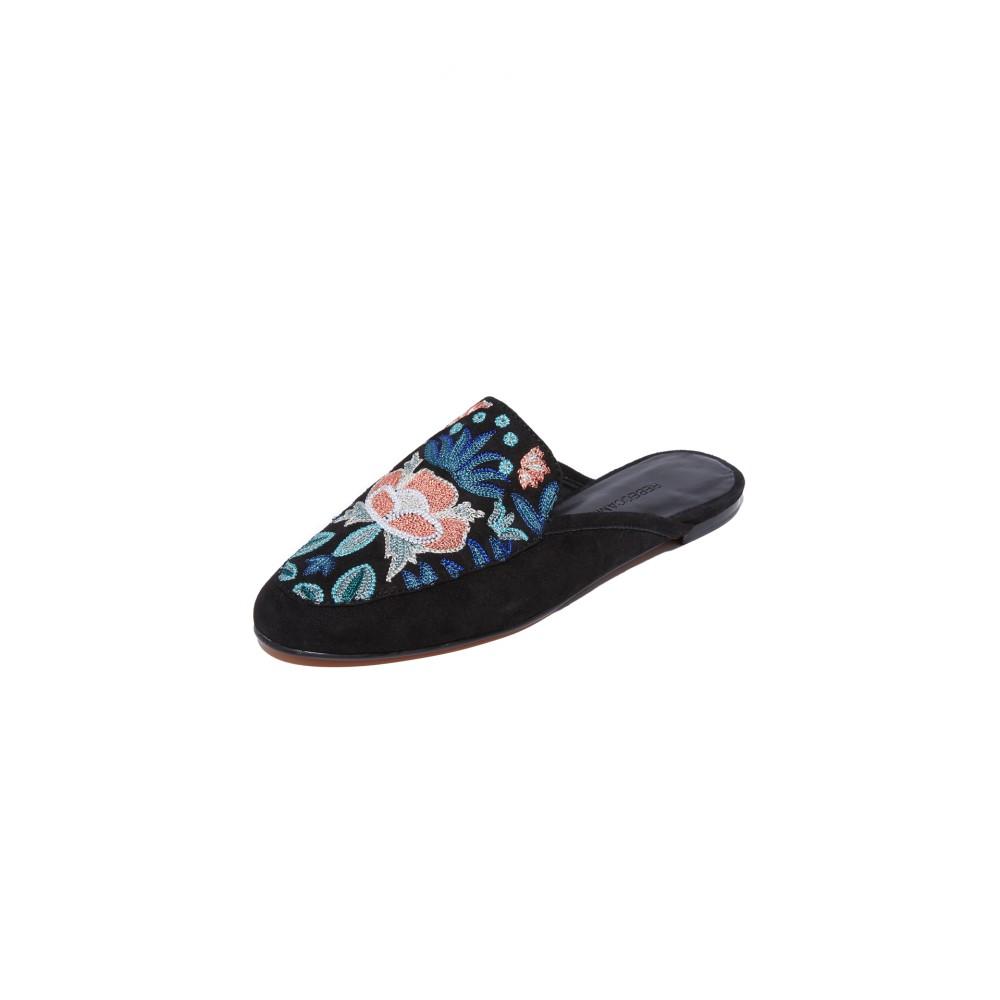 売切れ注意 レベッカ ミンコフ Rebecca Minkoff レディース シューズ・靴 フラット【Raylee Embroidered Mules】Floral Embroidery/Black