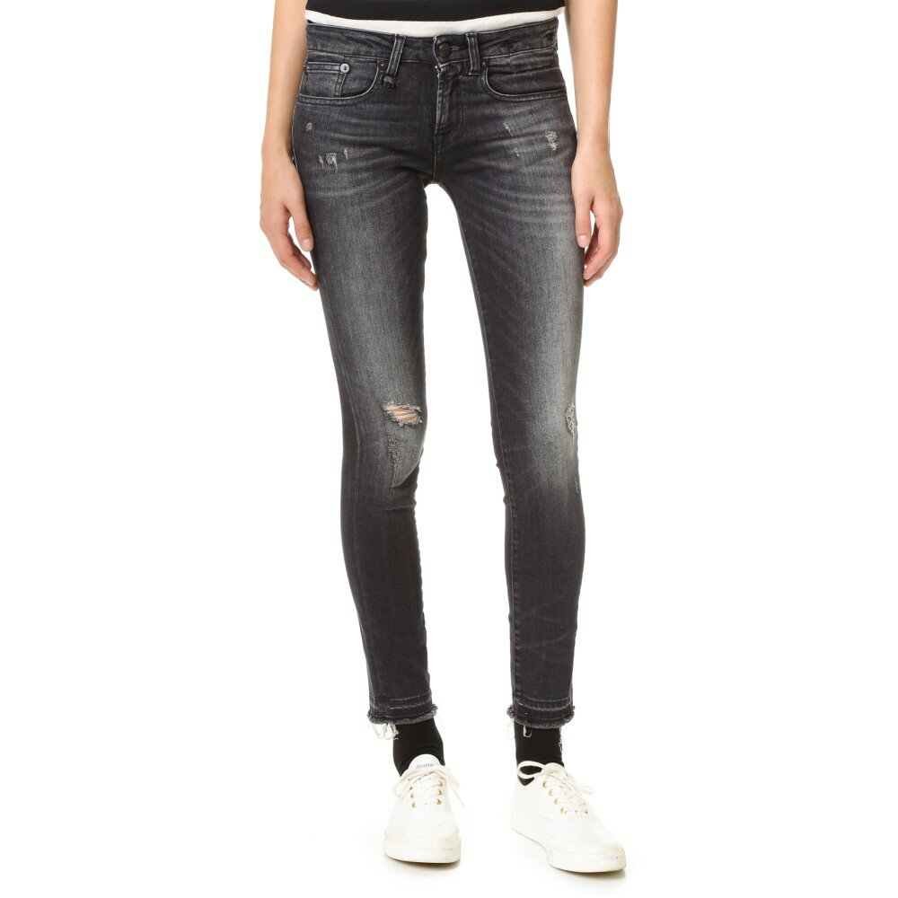 アール サーティーン R13 レディース ボトムス ジーンズ【Alison Cropped Jeans】Strummer Black