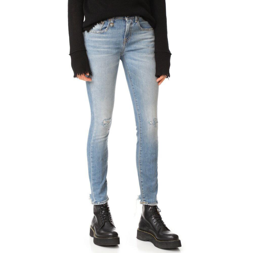 アール サーティーン R13 レディース ボトムス ジーンズ【Alison Skinny Jeans】Shiloh Stretch with Rips