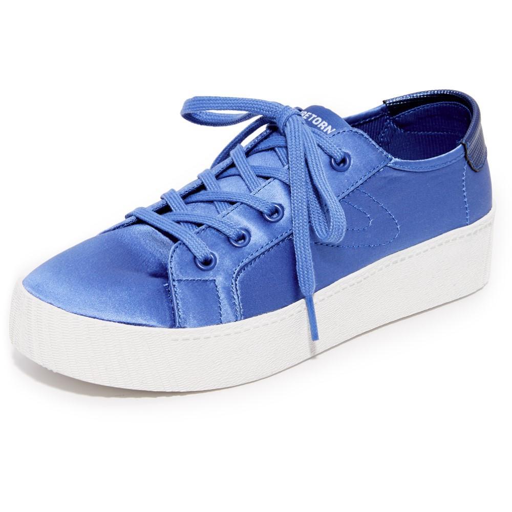 トレトン Tretorn レディース シューズ・靴 スニーカー【Blaire Satin Platform Sneakers】Blue