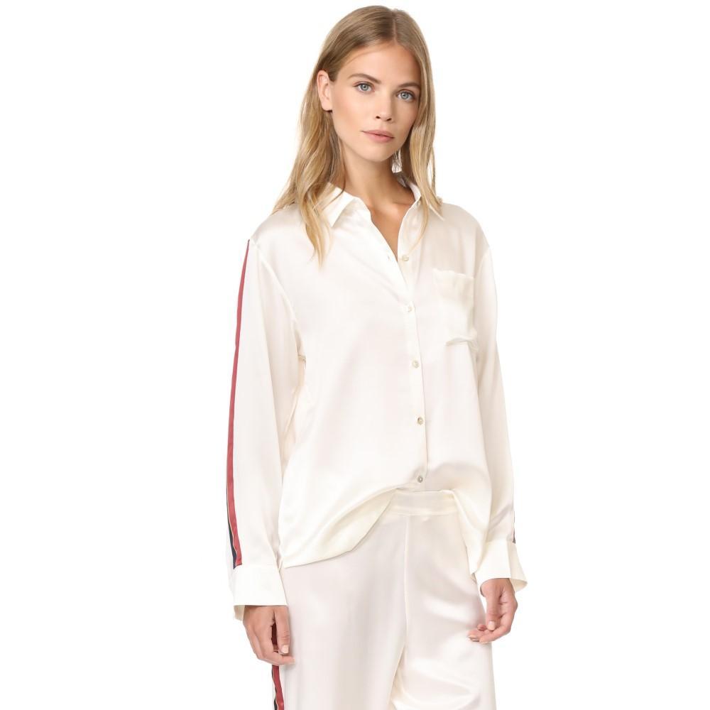 アッセーノ レディース インナー・下着 パジャマ・トップのみ【Pyjama Top】Ochre Blood Stripe