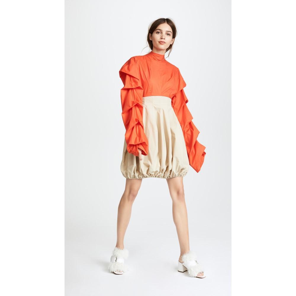 アウェイク レディース ワンピース・ドレス パーティードレス【Tendrils & Head Dress】Orange/Beige-1