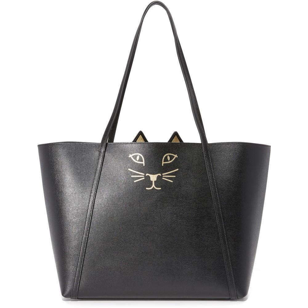 シャーロット オリンピア レディース バッグ トートバッグ【Feline Shopper Tote】Black