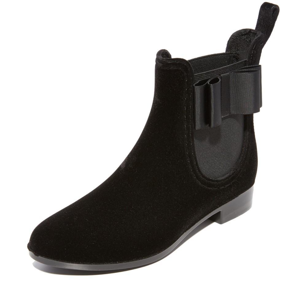 ジョア レディース シューズ・靴 レインシューズ・長靴【Reagan Velvet Rain Booties】Black
