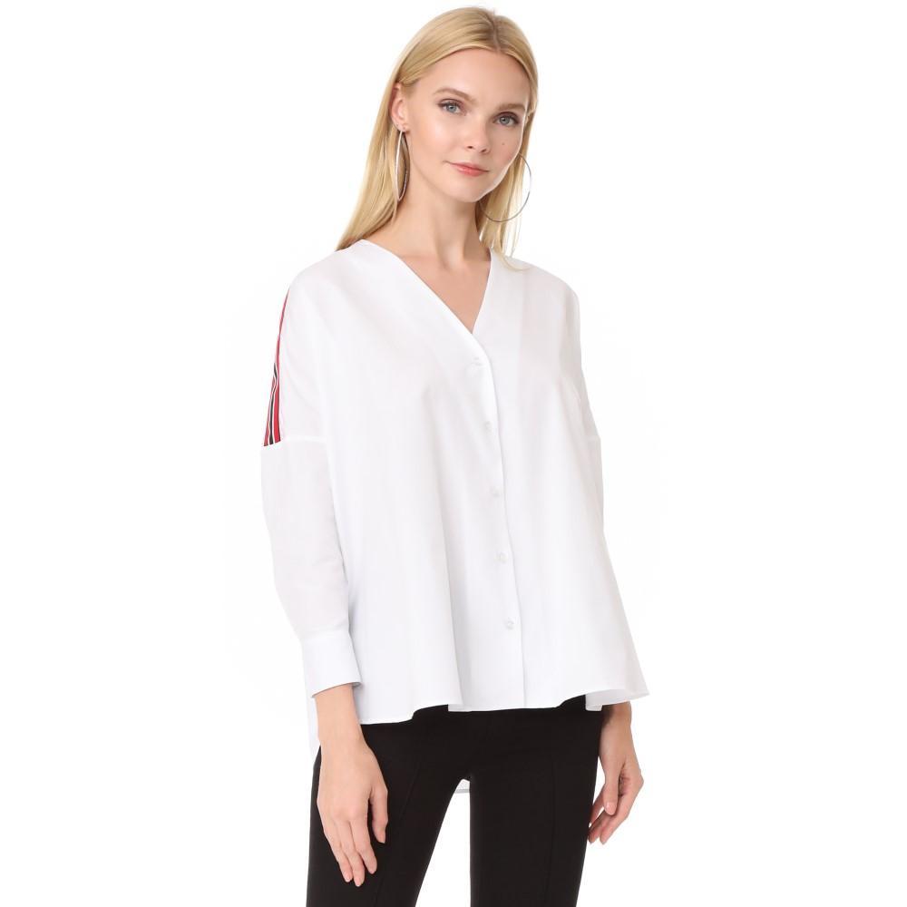 ジュールネ レディース トップス ブラウス・シャツ【Ribbon Shirt】White