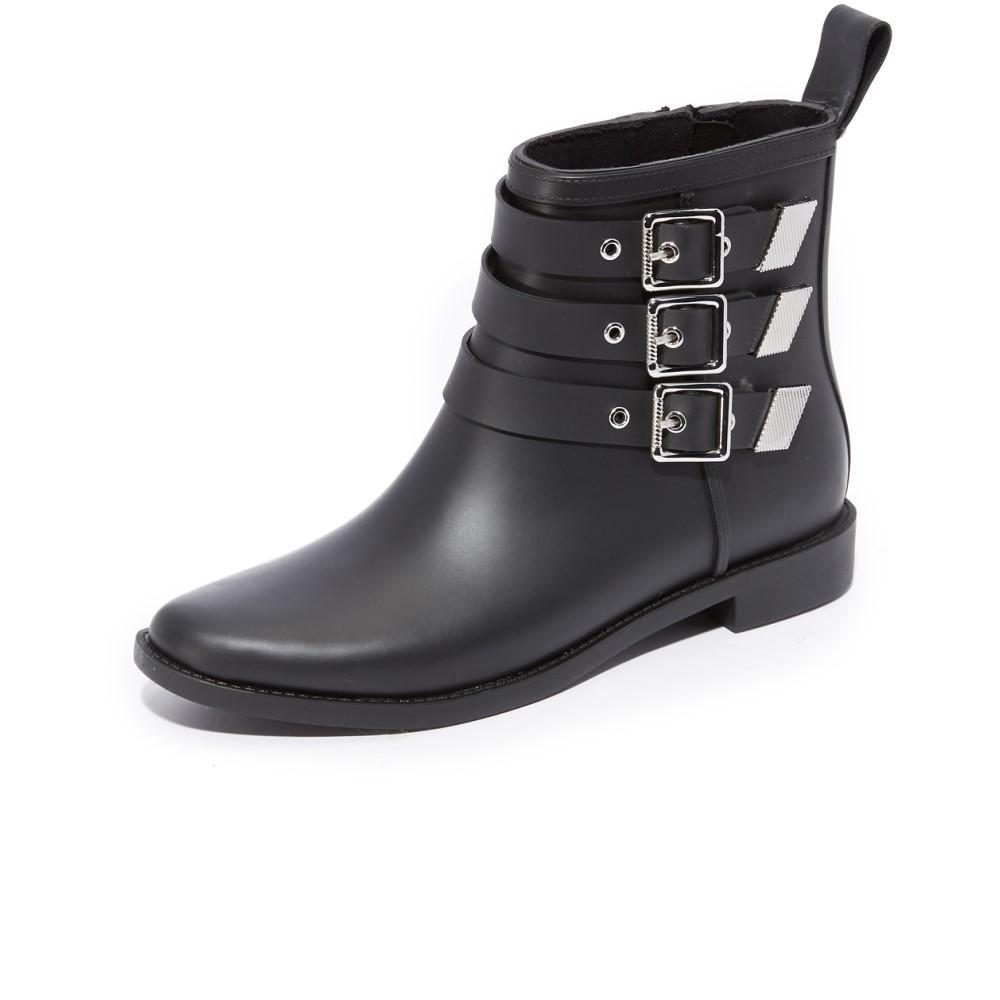 ロフラーランドール レディース シューズ?靴 レインシューズ?長靴【Nash Buckled Rain Booties】Black/Silver