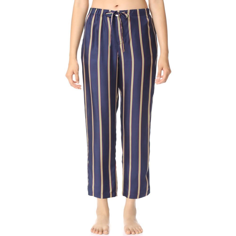 スリーピージョーンズ レディース インナー・下着 パジャマ・ボトムのみ【Silk Marina Pajama Pants】Navy