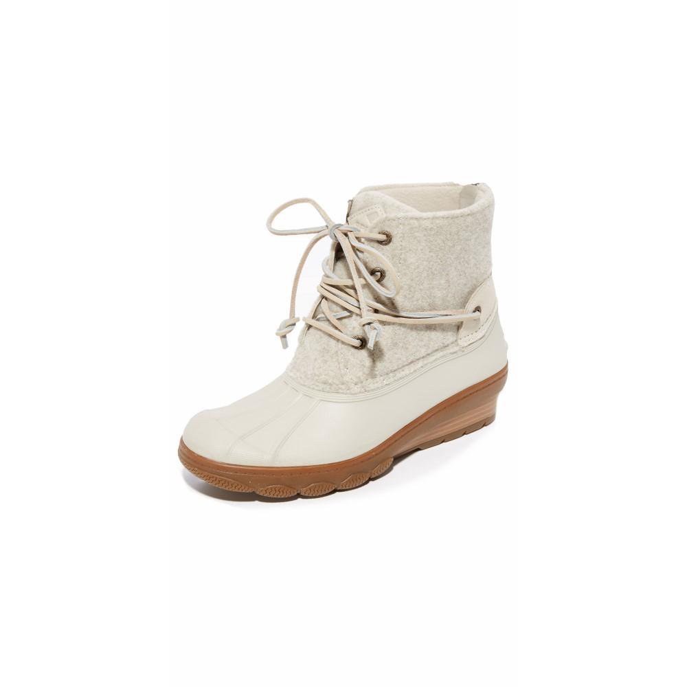 スペリー レディース シューズ・靴 ブーツ【Saltwater Wedge Tide Wool Booties】Ivory