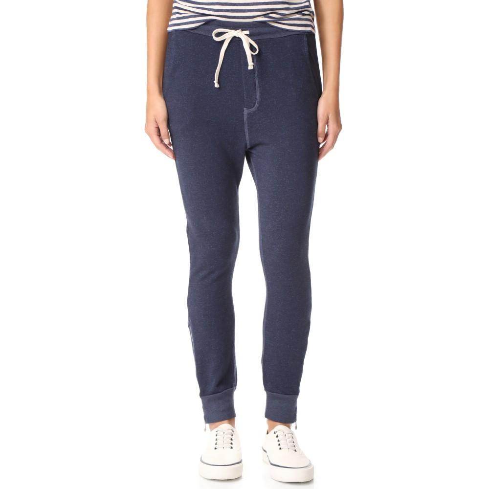 サンドリー レディース ボトムス・パンツ スウェット・ジャージ【Slash Pocket Zipper Sweatpants】Navy