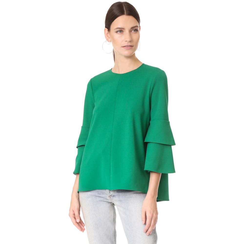 ティビ レディース トップス ブラウス・シャツ【Structured Crepe Bell Sleeve Top】Midori Green