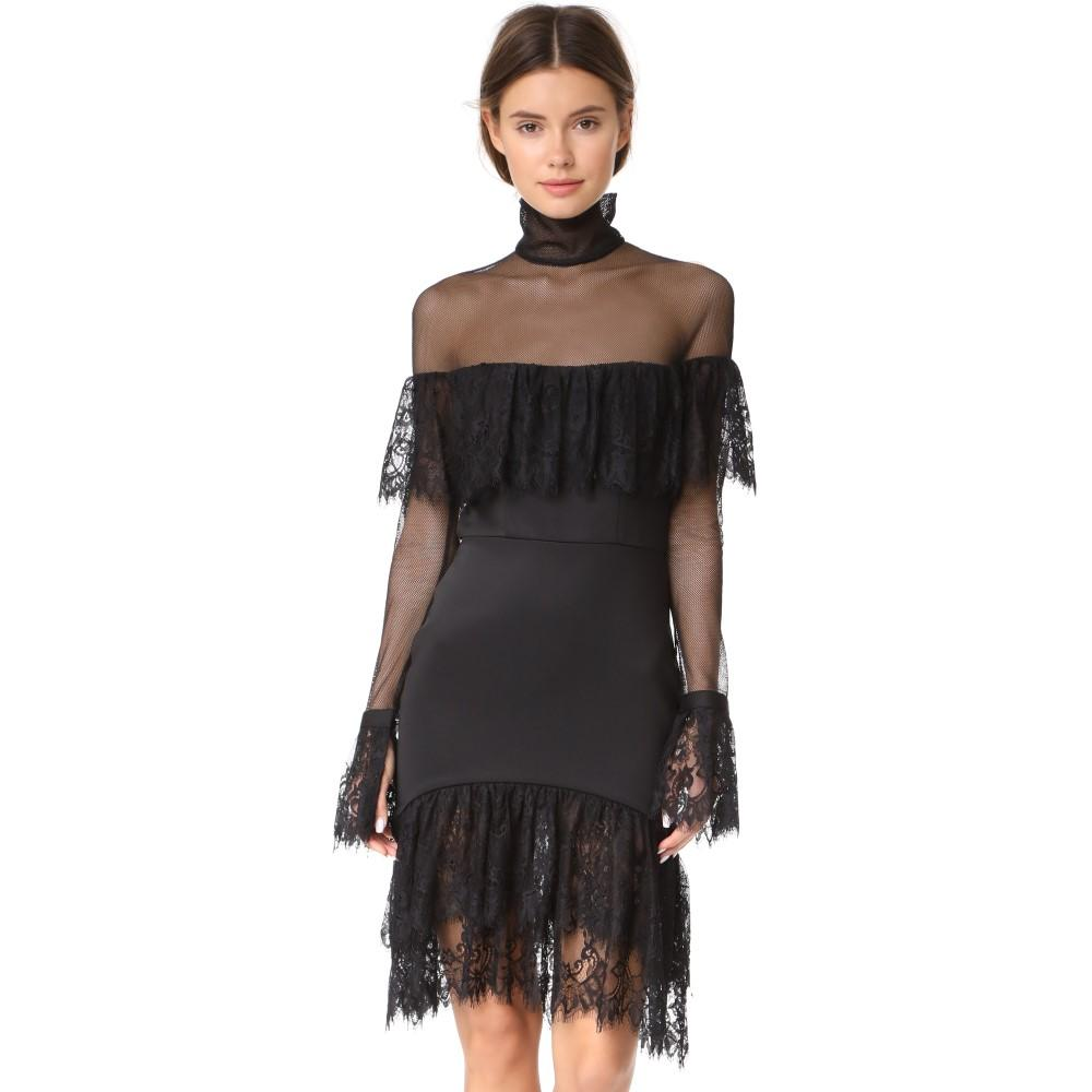 ヴァタニカ レディース ワンピース・ドレス パーティードレス【Ruffled Turtleneck Dress】Black