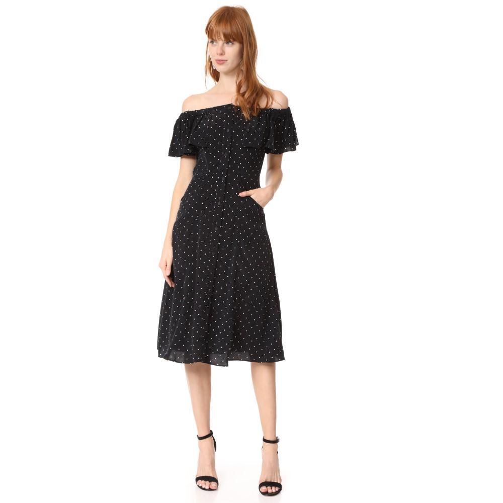 ホイッスルズ レディース ワンピース・ドレス ワンピース【Spot Cold Shoulder Dress】Multicolor