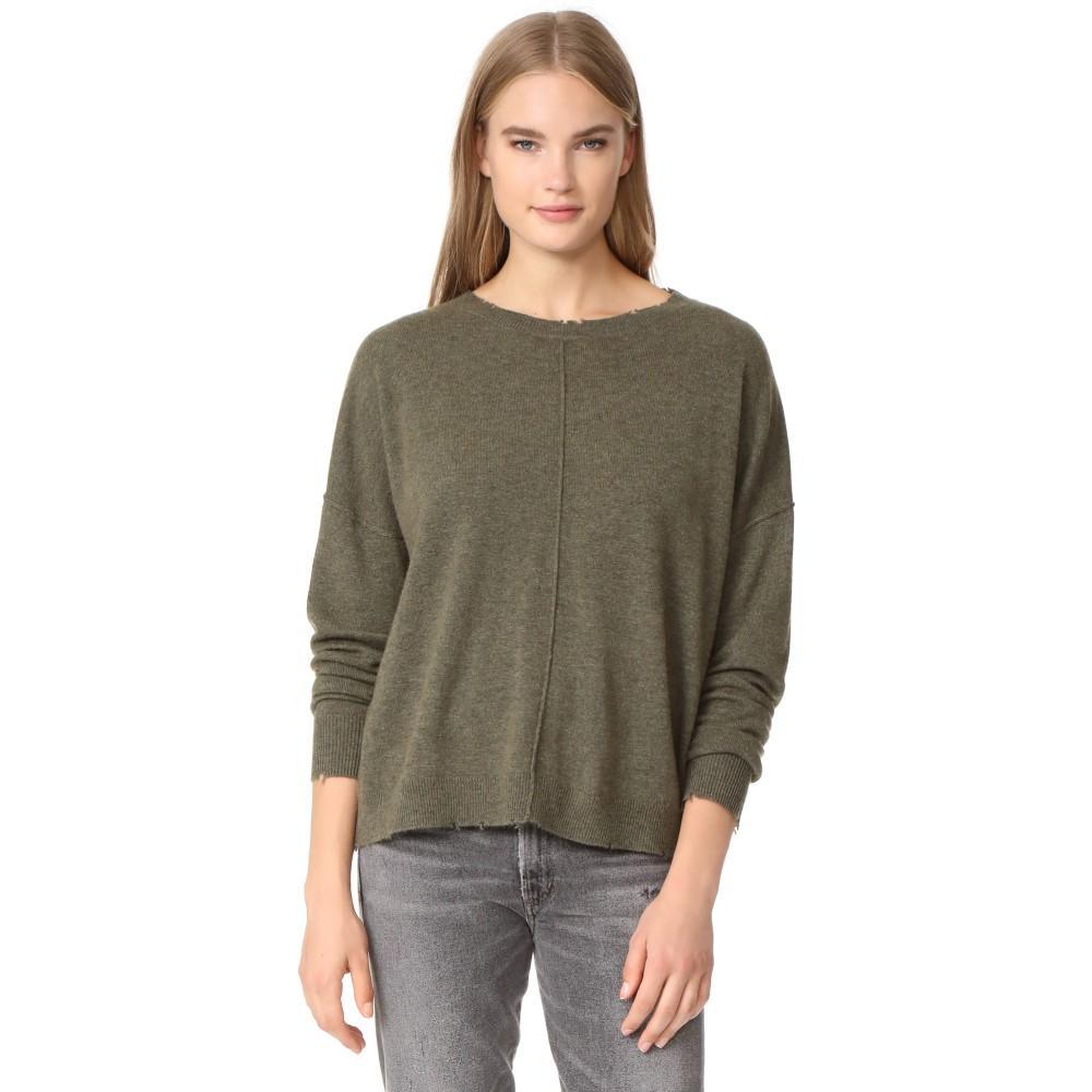 カレント エリオット レディース トップス ニット・セーター【The Destroyed Sweater】Military Green