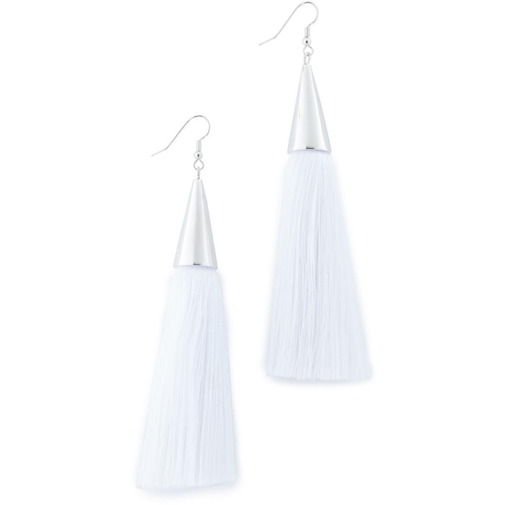 エディ ボルゴ レディース ジュエリー・アクセサリー イヤリング・ピアス【Silk Tassel Earrings】Chalk/Silver